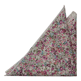 FLOWERFOLLY Pink pocket square