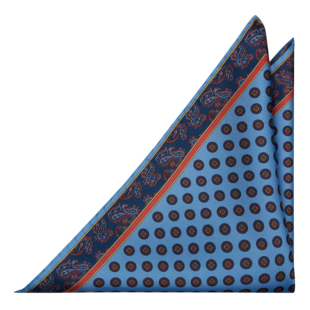 FRANCOBOLLO Light blue pocket square