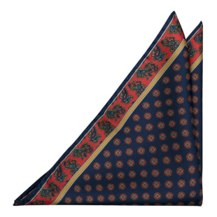 FRANCOBOLLO Navy blue pocket square
