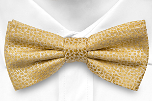 GIFTA YELLOW pre-tied bow tie