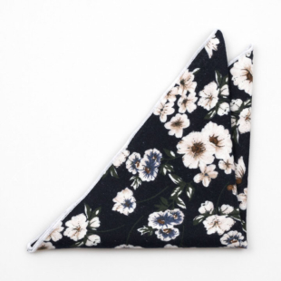 GLAMARYLL Navy blue pocket square
