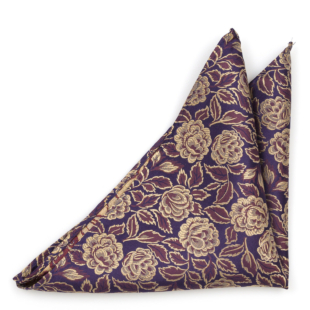 GOLDIVINE Aubergine pocket square