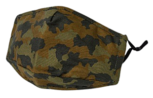 GREEN CAMOUFLAGE face mask
