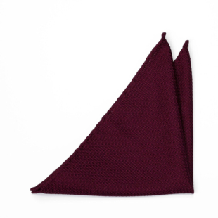GRENADINE Burgundy red pocket square