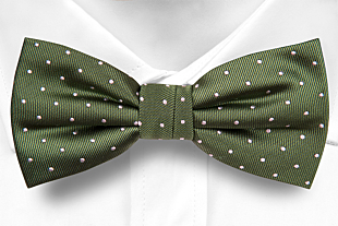 GRONGOLING GREEN pre-tied bow tie