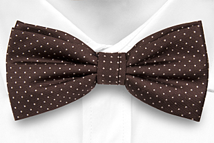 GRYMT BROWN pre-tied bow tie