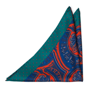 GUAZZABUGLIO Red pocket square