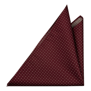 HAGELSTORM BURGUNDY pocket square