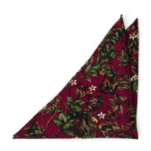 HANSELGRETEL Red pocket square