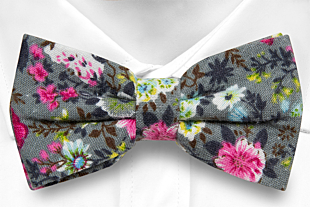 HAPPYSPROUT Grey bow tie