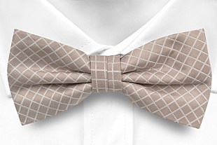 HJALPSAM BEIGE pre-tied bow tie