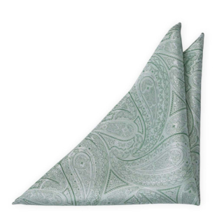 HONEYMOON Pale green pocket square