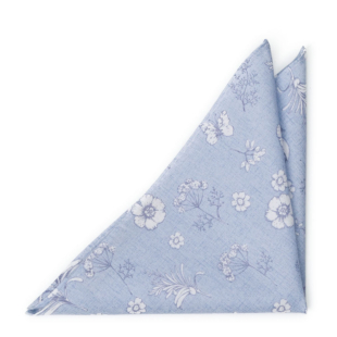 ICEMAIDEN Blue pocket square