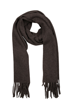 INVERNALE Dark brown scarf