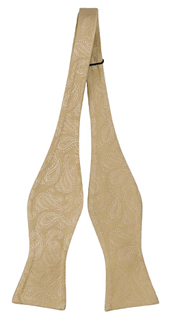 BRUD CHAMPAGNE self-tie bow tie