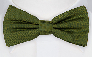 BRUDGUM Olive green bow tie