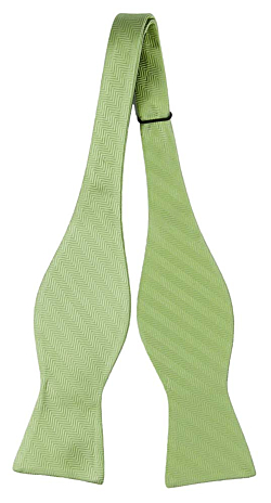 DRUMMEL GREEN self-tie bow tie
