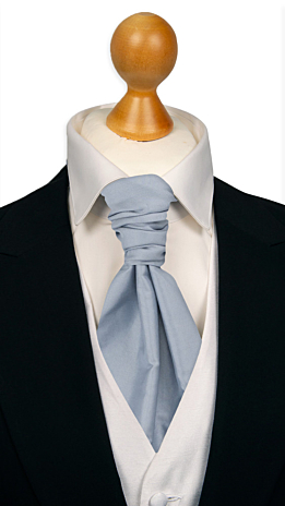 SOLID Baby blue cravat