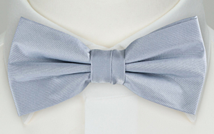 SOLID Baby blue bow tie