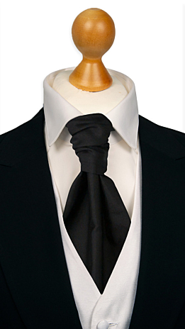 SOLID Black cravat