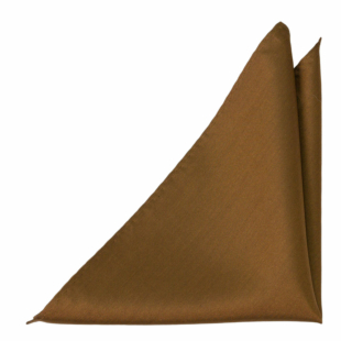 SOLID Bronze pocket square