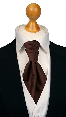 SOLID Brown cravat