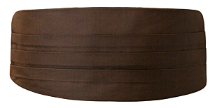 SOLID Dark brown cummerbund