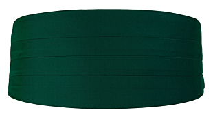 SOLID Dark green cummerbund