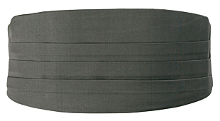 SOLID Dark grey cummerbund