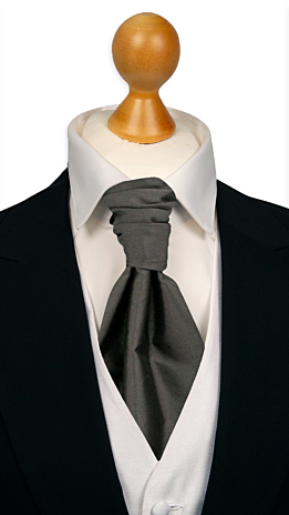 SOLID Dark grey cravat