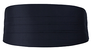 SOLID Dark navy cummerbund