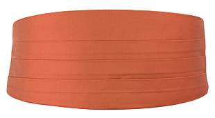 SOLID Dark peach cummerbund