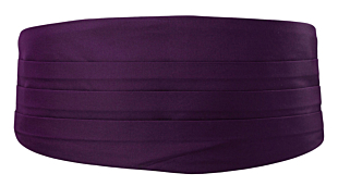 SOLID Dark purple cummerbund