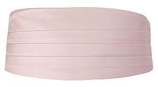 SOLID Dusty pink cummerbund