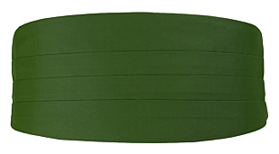SOLID Green cummerbund