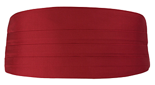 SOLID Red cummerbund