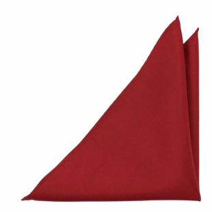 SOLID Red pocket square