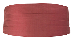 SOLID Rose cummerbund