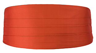 SOLID Rusty Orange cummerbund