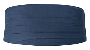 SOLID Steel blue cummerbund