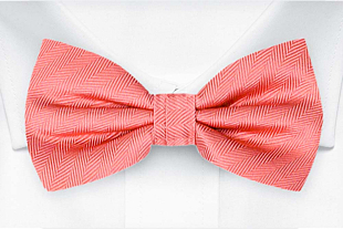 JAGGED Coral bow tie