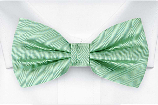 JAGGED Seafoam turquoise bow tie