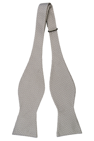 KARASTE GREY self-tie bow tie
