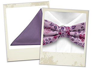 Charis bow tie and Jambali pocket square gift combo