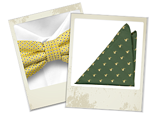 Zarin bow tie and Marvin pocket square gift combo