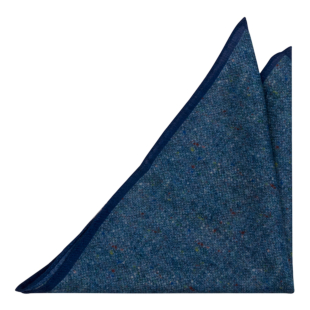 MACULATO Blue pocket square