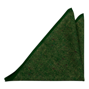 MACULATO Green pocket square