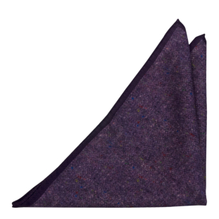 MACULATO Purple pocket square