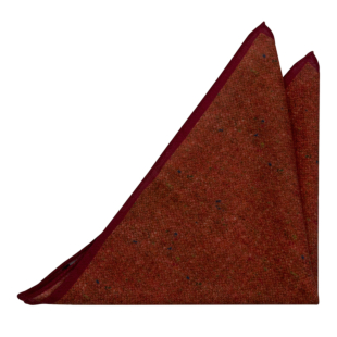 MACULATO Rusty red pocket square