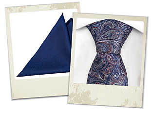Tejas tie and Njord pocket square gift combo